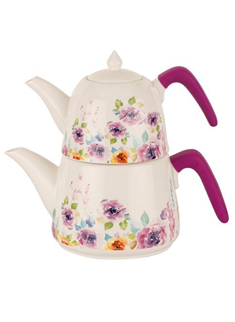 Tantitoni Porselen Supreme Çaydanlık Takımı Renkli
